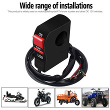 Motorcycle-Handlebar Moto-Accessories Universal On/off-Switch with 12V Usb-Charger Socket-Adapter