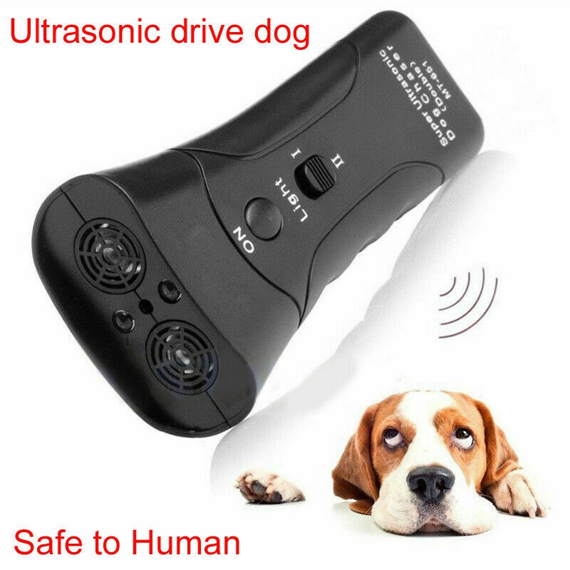 3 in 1 Pet Anti Dog Barking Pet Repeller Stop Bark Training Device Trainer LED Ultrasonic Anti Ultrasonic Without Battery