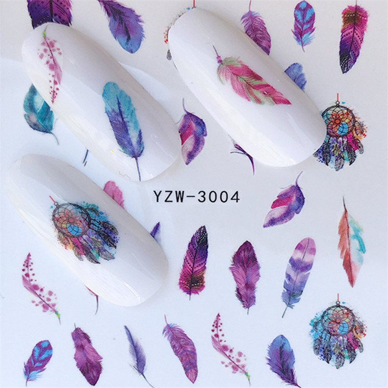 1 Sheet Nail Water Decals Noble Vintage Necklace With Flower Pattern Tranfer Sticker Nail Art Decoration Nail Stickers