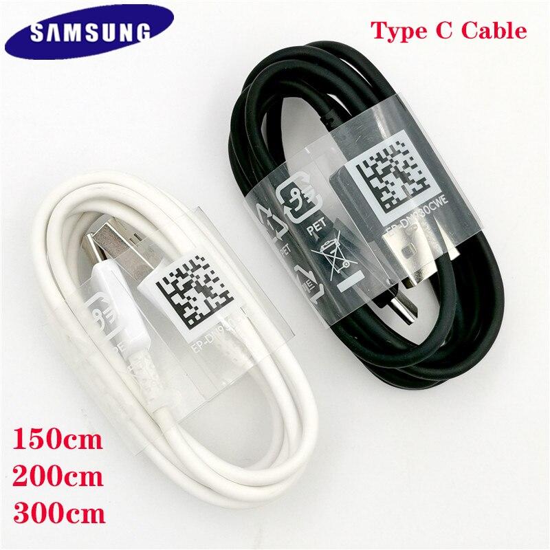 Оригинальный Samsung 150 см/200 см/300 см USB 3,1 TYPE-C кабель для быстрой зарядки и передачи данных для Samsung Galaxy A70S A50S A30S M60 M51 A21S M31S