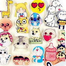 Anime Broche Hond Kat Giraffe Kraag Broches Jeans Shirt Handtas Badges Op Rugzak Pins Cartoon(China)