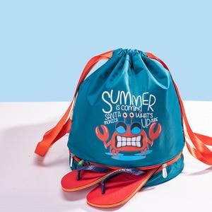 Image 3 - Sunveno水泳バッグウェット/ドライバッグ子供水泳pe袋巾着バックパック