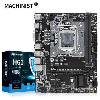 H61 motherboard LGA 1155 support DDR3 16G desktop RAM Memory Intel CORE i3/i5/i7 LGA1155 processor USB2.0 Micro-ATX H61M-S1 1