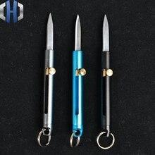 Couteau de poche en alliage daluminium, Mini aiguiseur de couteaux multifonctions, Mini couteau de poche en plein air, démolition Portable EDC