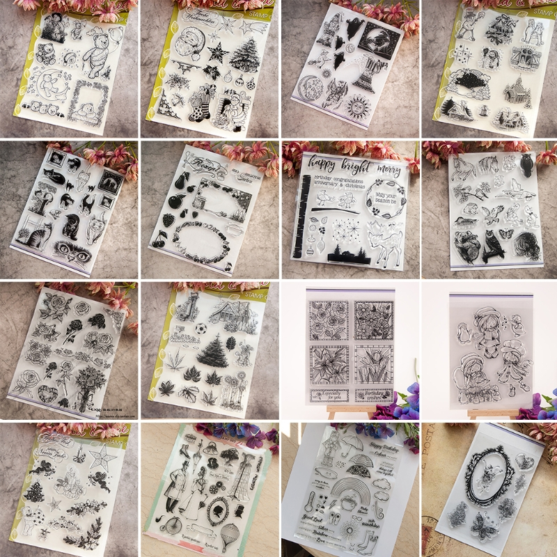 Clear Stamp Silicone Seal For Scrapbook Diary Album Photo T1189 Flower Wishes