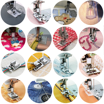 New Hot 36styles Domestic Sewing Machine Accessories Presser Foot Feet Kit Set Hem Foot Spare Parts For Brother Singer Janome image