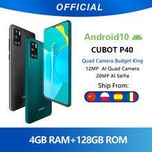Cubot P40 Achter Quad Camera 20MP Selfie Smartphone Nfc 4 Gb + 128 Gb 6.2 Inch 4200 Mah Android 10 dual Sim-kaart Mobiele Telefoon 4G Lte