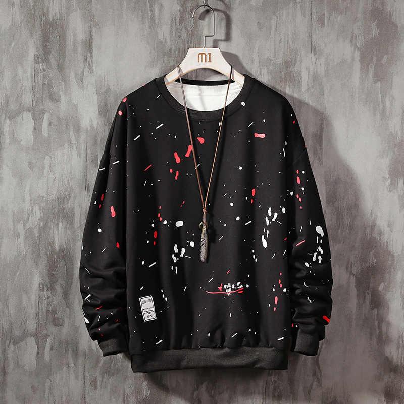 2019 New Men Hoodiesเสื้อสีดำสีขาวสีเทาพิมพ์Headwear Hoodie Hip Hop Streetwear Mens Casual Pullover
