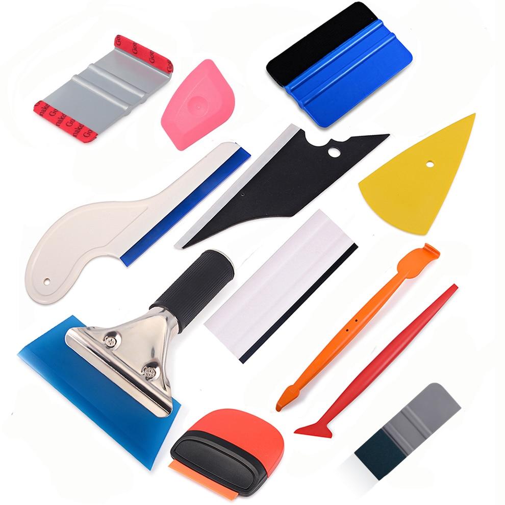 FOSHIO Carbon Fiber Vinyl Film Wrap Car Accessories Kit Auto Window Tinting Scraper Magnet Sticker Squeegee Car Repair Tools
