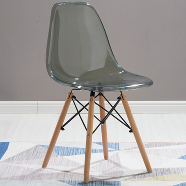 Dining Room Wood Transparent Chair 4