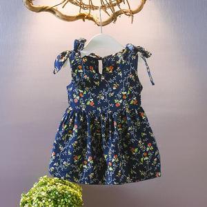 Letnia nowa sukieneczka dla dziewczynek 2019 bez rękawów dla dzieci księżniczka sukienki dla dzieci odzież sukienka kwiatowa Ins dziecięca 1 2 3 4 5 lat