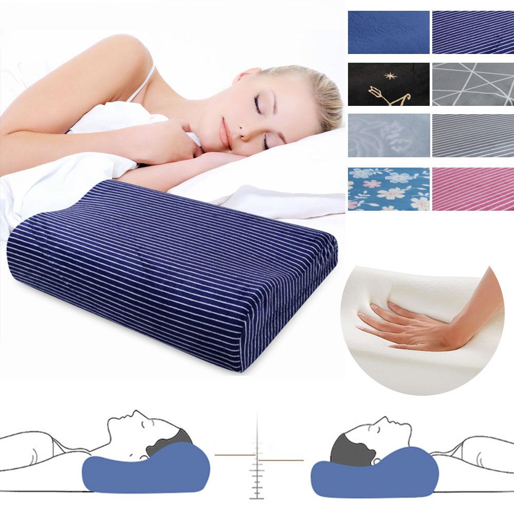 Soft Memory Foam Slow Rebound Contour Cervical Neck Sleep Care Bed Travel Pillow