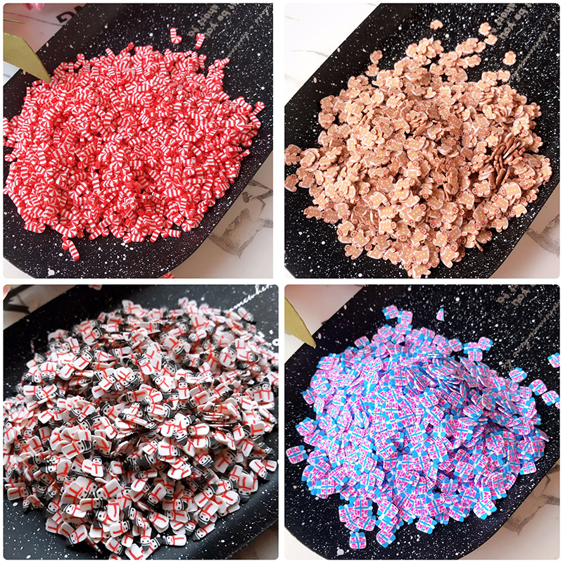 Happy Monkey 10g Polymer Clay  Slime Additives Supplies Slice Topping DIY Kit Sprinkles Filler For Fluffy Clear Slime Clay
