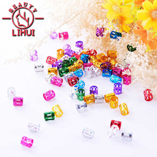 Dreadlock Beads Braiding-Hole Micro-Ring Silver 200pcs Red Gold for Mixed-Color Wholesale