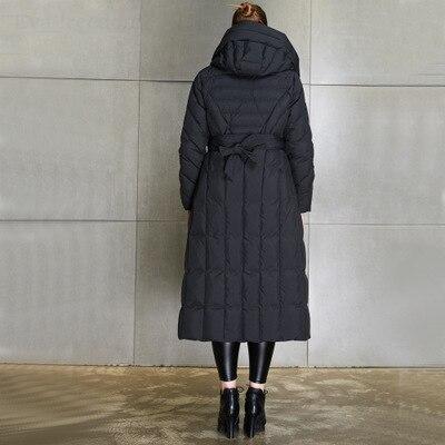 New Arrival 2020 Winter Warm Down Jacket Women 90% Duck Down Long Jackets European Female Loose Hooded Parkas Outwear LX2221