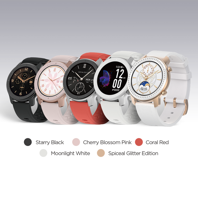 In Stock Global Version New Amazfit GTR 42mm Smart Watch 5ATM Smartwatch 12Days Battery Music Control For Xiaomi Android IOS 1