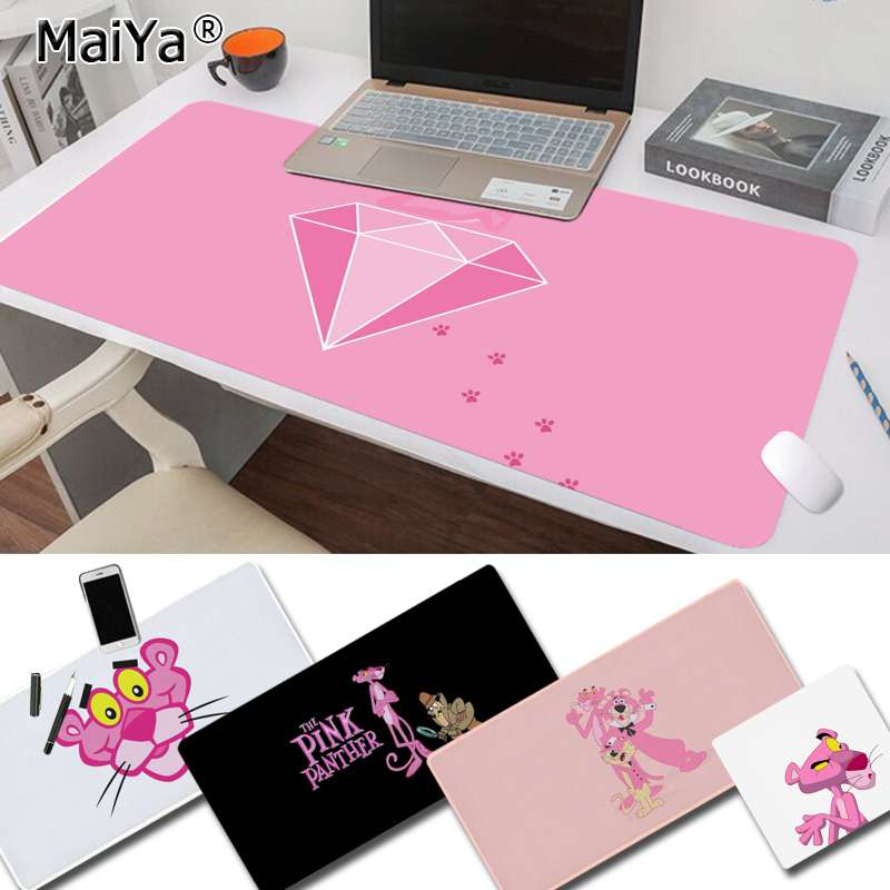 Maiya Custom Skin Pink Panther Keyboards Mat Rubber Gaming Mousepad Desk Mat Free Shipping Large Mouse Pad Keyboards Mat
