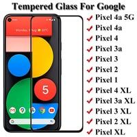 3 pezzi di vetro temperato a copertura totale per Google Pixel 3xl 3 3a Pixel 4a 3axl pellicola salvaschermo per Google Pixel 4 XL 3a XL 2 XL XL pellicola