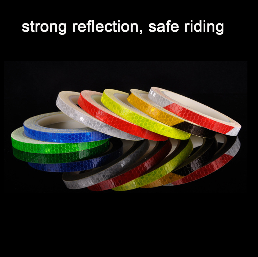 Reflective Fluorescent Sticker Bicycle Motocycle Car Stickers Adhesive Tape  Car Decoration  Accessories