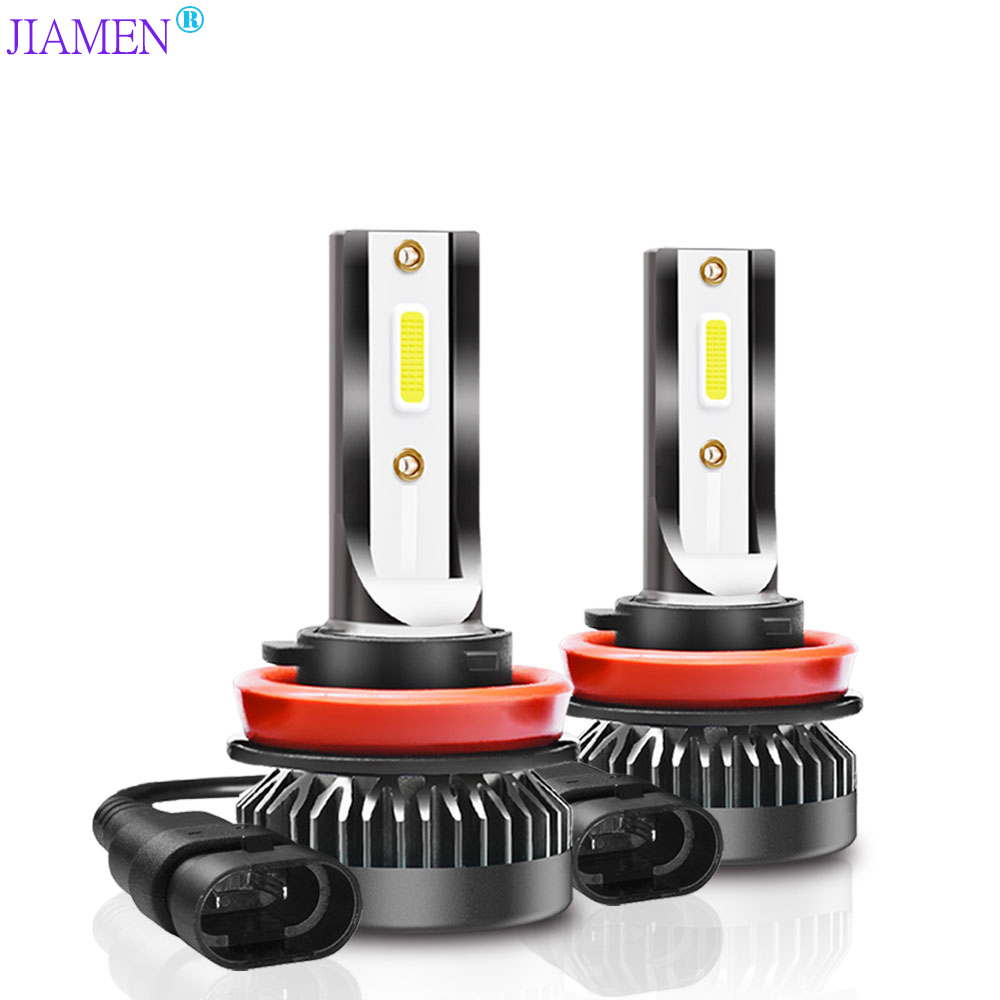JIAMEN 2Pcs <font><b>12000LM</b></font> Mini <font><b>H7</b></font> LED Car Light Headlight Bulbs H1 LED H8 H9 H11 9005 HB3 9006 HB4 Auto 12V 24V LED Lamps Automobiles image