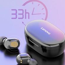 Lenovo XT90 אלחוטי אוזניות TWS Bluetooth 5.0 ספורט אוזניות מגע כפתור IPX5 עמיד למים אטמי אוזניים עם 300mAh טעינת תיבה