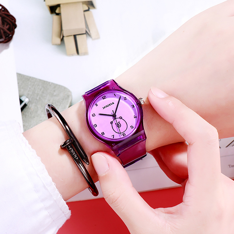 New Simple Personality Ultra-thin Digital Transparent Belt Fashion Trend Men And Women Students Watch