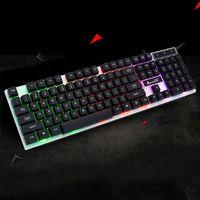 עם התאורה האחורית LED Wired זוהר עם התאורה האחורית Gaming Keyboard מחשב שולחני לוח המקשים המכאניים D08B (5)