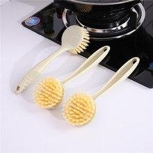 Щетка для мытья посуды с длинной ручкой, антипригарная кухонная посуда, кухонные принадлежности, щетка для мытья посуды, щетка для суб-печи, щетка для очистки