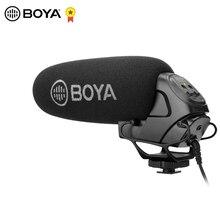 Конденсаторный видеомикрофон BOYA, конденсаторный микрофон для интервью с камерой, видео микрофон для цифровых зеркальных камер Canon, Nikon, Sony