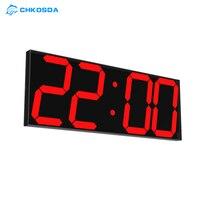 LED wall Clock Office Electronic Alarm Clocks Timer The Calendar Weather Station Digital Clock Relogio De Mesa Wake Up Light