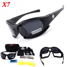 X7 C5 Polarized Sport Glasses 4 Lens Military Army Outdoor Sunglasses Tactical Hunting Airsoft Glggles Hiking Eyewear saiyu c5 army goggles desert storm 4 lens outdoor sports hunting sunglasses anti uva uvb x7 polarized war game motorcycle glasse