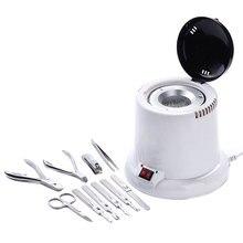 Профессиональный мини стерилизатор высокая температура портативный дезинфицирующий шкаф 100 Вт стеклянные шарики маникюрные инструменты для ногтей 180 градусов дезинфекция