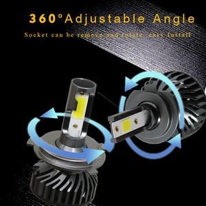 Image 3 - Otbqcn ミニ車のヘッドライト canbus H7 H4 led 3000 18k 4300 18k 6500 18k 8000 18k H1 H11 H8 9005 9006 H3 ヘッドランプ led 電球自動フォグランプ 12 v