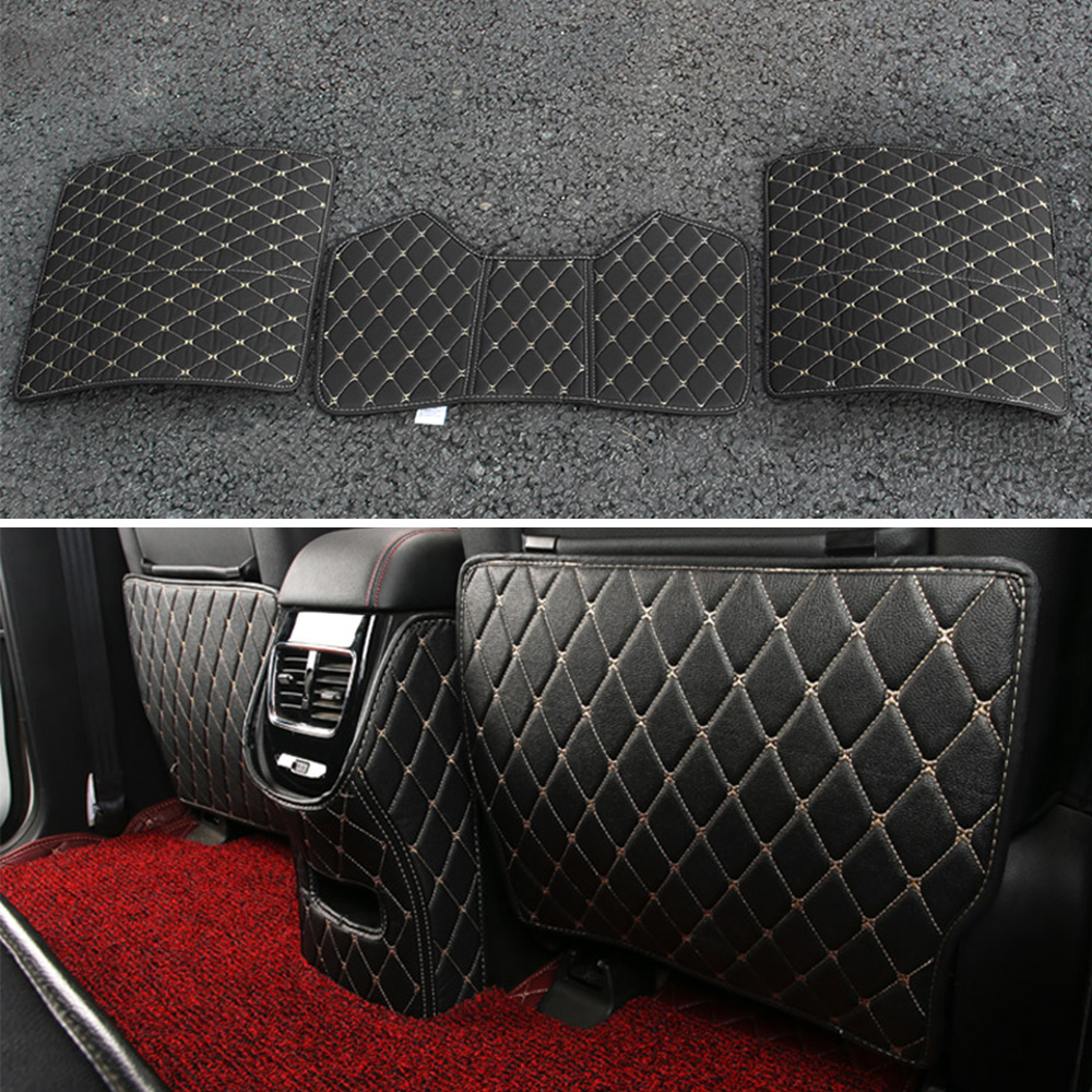 3Pcs Car Anti Kick Mat For 2015 2016 2017 2018 Hyundai Tucson TL Auto Interior Trim Decoration Accessories Car Styling image