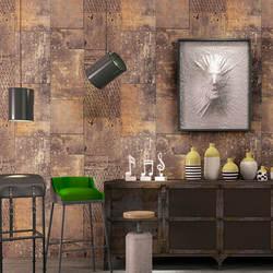 3D ностальгические металлические обои Algam в промышленном стиле ресторан прохладная Стена бар кофейня ретро обои