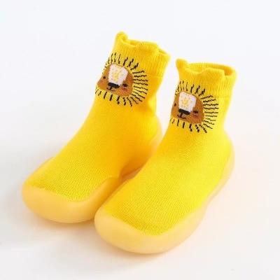 Baby Socks Shoes Boys Girls With Rubber Soles Girl Boys Cartoon Baby Shoes Infant Baby Shoes Anti-slip Leather Kids Floor Socks