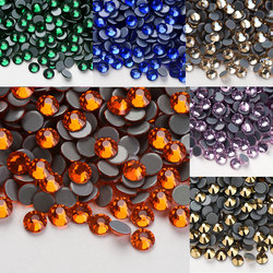 Ss4-ss40 AAAA Hot Fix Rhinestone Glitter Flatback Glass Crystal Hotfix Stones Iron on Rhinestones for Garment DIY Decorations