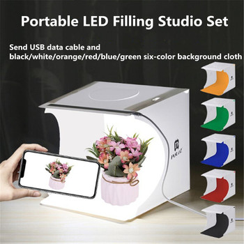 2020 New LED Folding Lightbox Portable Photography Photo Studio Softbox Brightness Light Box For DSLR Camera Tabletop Shooting portable 40 40cm 16inch folding led lightbox photography photo studio softbox adjustable brightness light box for dslr camera