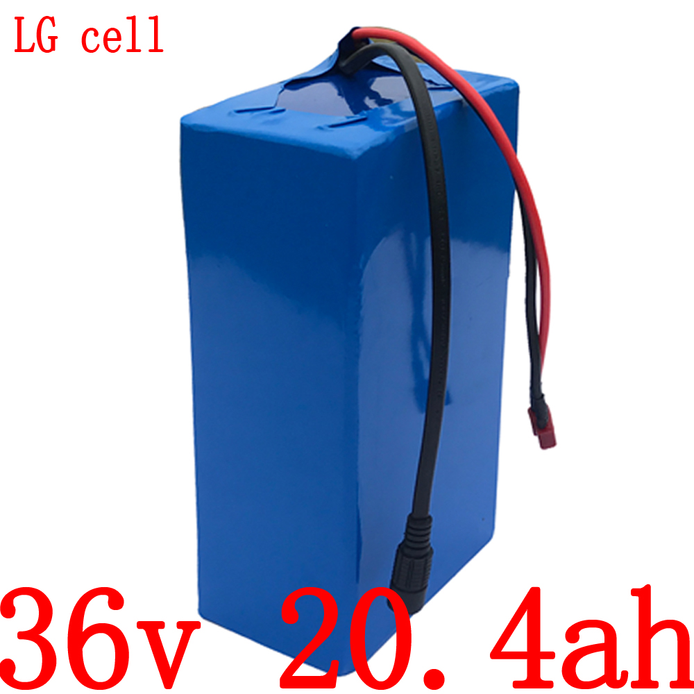 <font><b>36V</b></font> 500W 1000W battery pack <font><b>36V</b></font> 20AH lithium battery <font><b>36V</b></font> 20AH electric bike battery use LG cell with 42v <font><b>2A</b></font> <font><b>charger</b></font> free duty image