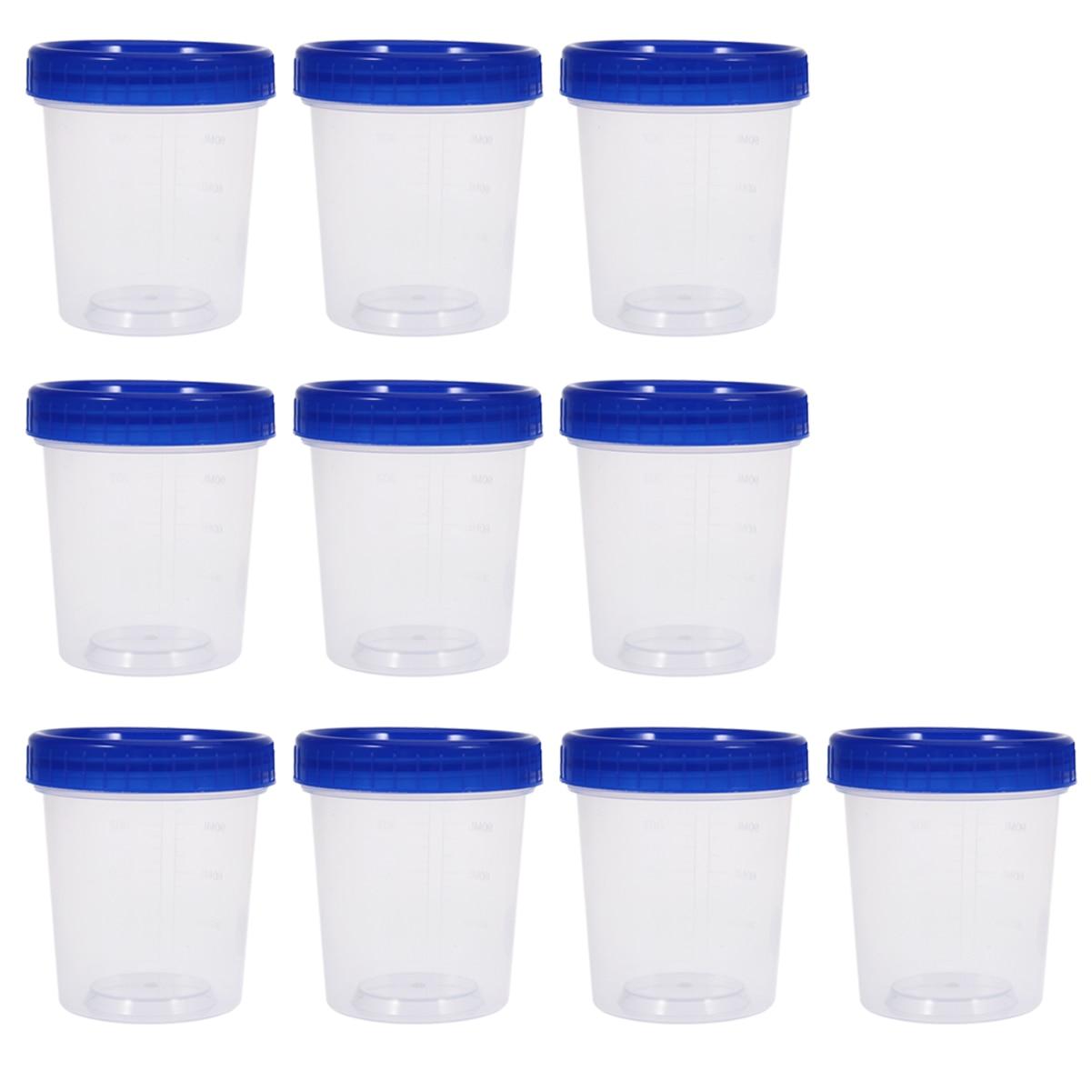 10pcs 120ml Disposable Plastic Measuring Cups With Lid Transparent Specimen Cup Kitchen Accessories