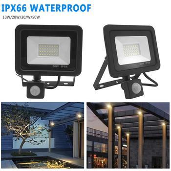 Ультра-тонкий светодиодный светильник с Индукционным наводнением, датчик для ног, линейный патч, уличный садовый охранный прожектор, свети...