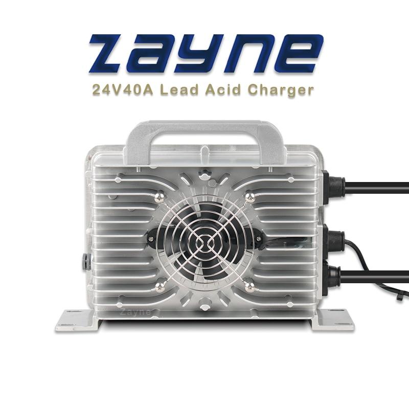 ZAYNE-cargador rápido inteligente de alta frecuencia, dispositivo de carga de 24V, 35A, 40AMP, resistente al agua, para cuatro baterías de plomo ácido, 6V, 4S, 12, 2S