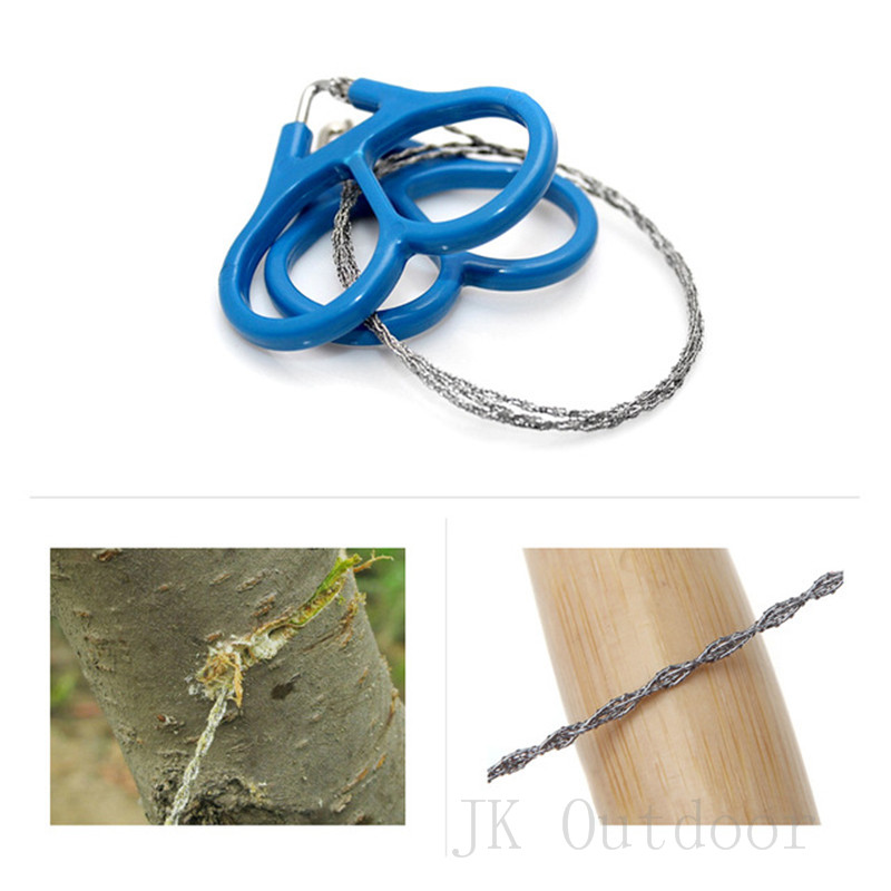 EDC Tools Pocket Saw Chainsaw Pocket Gear Hunting Kits Safety Survival Outdoor Camping Emergency Steel Wire  Rope For Fretsaw
