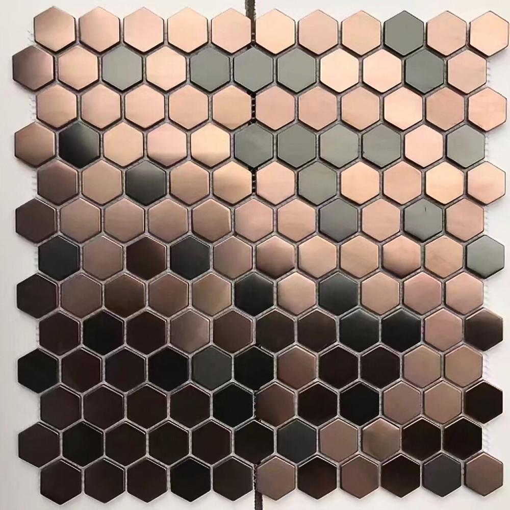 Mosaic Tile Bronze Copper Color