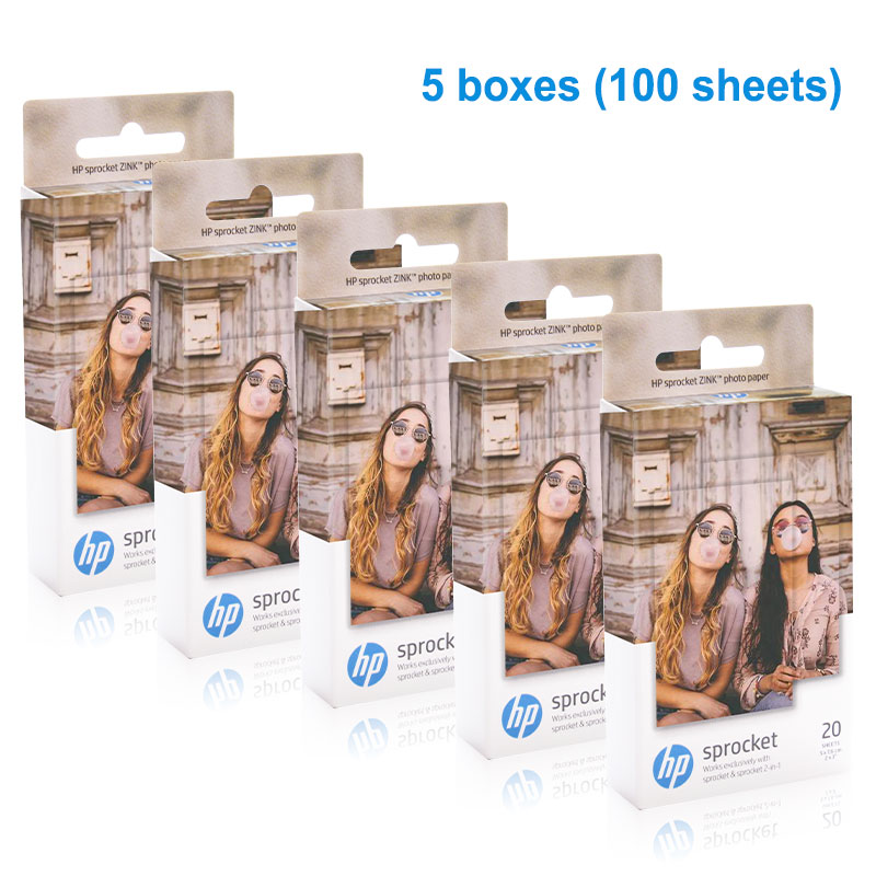 Topcolor 100 Lembar Hp Kertas Foto ZINK untuk HP Sprocket Photo Printer Bluetooth Printing Saku Mini Lengket Kertas Foto 5*7.6 Cm
