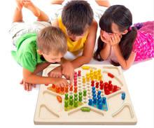 Детские развивающие деревянные игрушки шашки и летающие детские