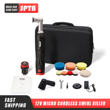 SPTA 12V Cordless Car Polishing Machine New High Quality Professional Cordless Mini RO/DA Car Polisher Set