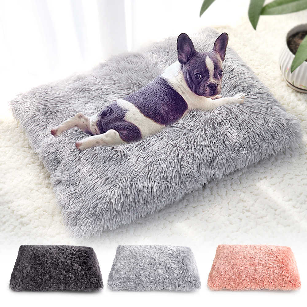 Long Plush Dog Bed Pet Cushion Blanket Soft Fleece Cat Cushion Puppy  Chihuahua Sofa Mat Pad For Small Large Dogs|Houses, Kennels & Pens| -  AliExpress