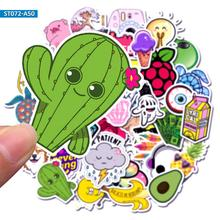 50pcs Cartoon Simple VSCO Girls Kawaii Stickers for Kids DIY Letter Diary Scrapbooking Stationery Pegatinas Mobile Phon