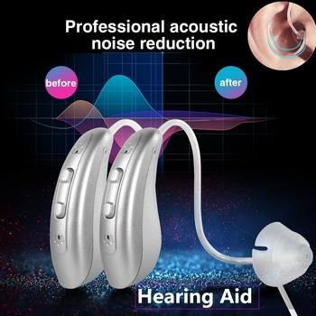 Rechargeable Digital Hearing Aid Earphone Amplifier Hearing Ear Aids Deaf-aid Audiphone for the Hearing Loss Deafness One Pair aparelho auditivo deafness ear sound enhancement listen up sound amplifier rechargeable power hearing aid for listing loss